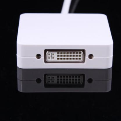 Mini Display Port Thunderbolt to VGA HDMI DVI TV Projector Monitor Adapter Connector for MacBook Air Pro Mac
