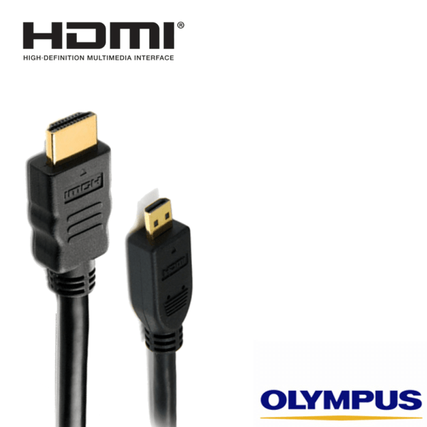 Olympus Stylus Camera HDMI Micro TV Monitor 5m Long Gold Wire Lead Cord Cable
