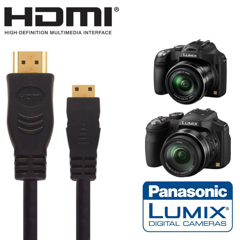 panasonic dmc fz72 gx7 camera hdmi mini tv monitor 5m. Black Bedroom Furniture Sets. Home Design Ideas