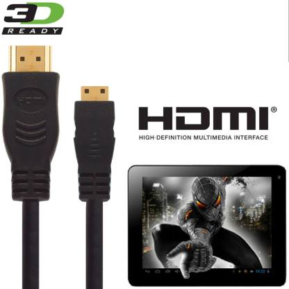 PolaTab Tablet PC HDMI Mini to HDMI TV 5m Gold Long Cord Wire Lead Cable