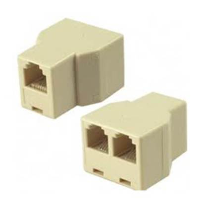 RJ11 female to RJ11 female (F-F) 1 to 2 Telephone Line Connector Splitter Extender Plug Adapter