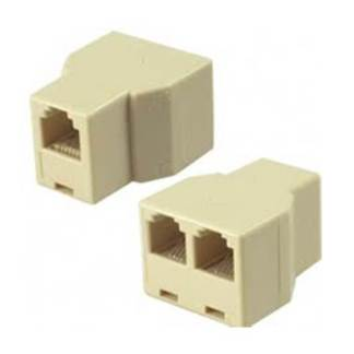 RJ11 female to RJ11 female (F-F) 1 to 2 Telephone Line Connector Splitter Extender Plug Adapter
