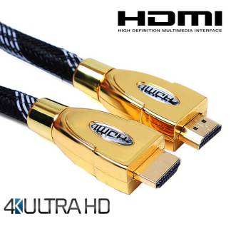 Roku 4 TV HDMI to HDMI 4K Ultra HD TV 4m Gold Lead Wire Cord Cable