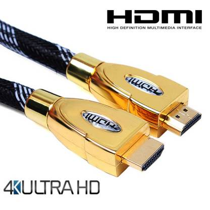 Roku 4 TV HDMI to HDMI 4K Ultra HD TV 1m Gold Lead Wire Cord Cable