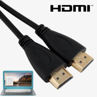 Samsung, Acer, HP, Asus Chromebook Laptop HDMI TV 2m Gold Lead Wire Cord Cable