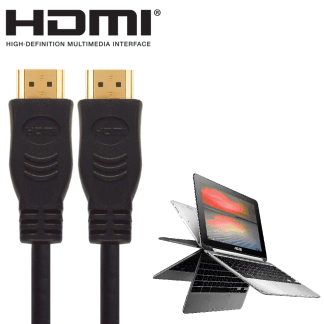 Asus X751LA, X553MA, C100PA-FS0001 Laptop HDMI to HDMI TV 2m Gold Cord Wire Lead Cable