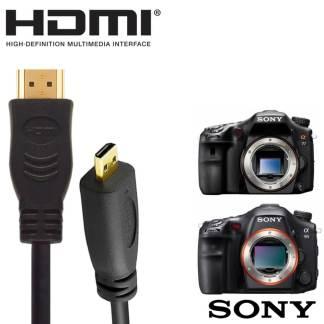 Sony A58K, A99V, A58Y Camera HDMI Micro TV Monitor 2m Gold Wire Lead Cord Cable