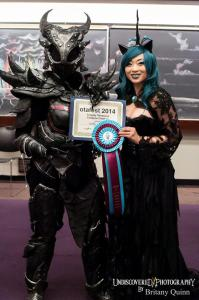 Yaya Han with Daedric Armor