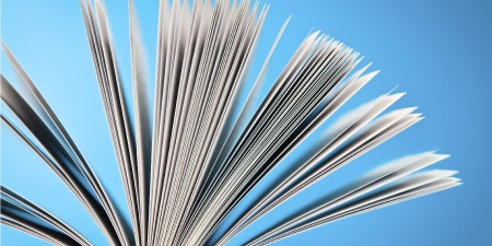 Book with pages fanned out