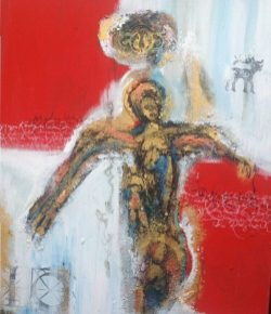 Dorthe Vedel Kunst Red Angel