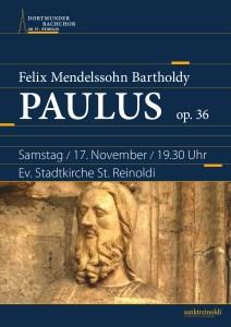 Plakat - Mendelssohn - Paulus