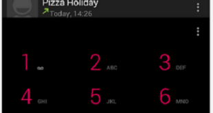 dialer app with material design