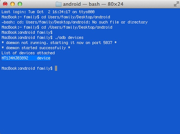 android sdk on mac 5