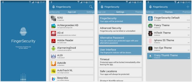 fingersecurity, secure any app with fingerprint in samsung