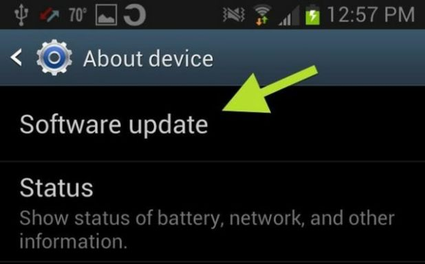 Software Update on Android