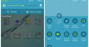 Galaxy S6 toggles and quick settings