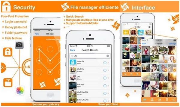 Hi Folder will protect you photos and videos on iphone