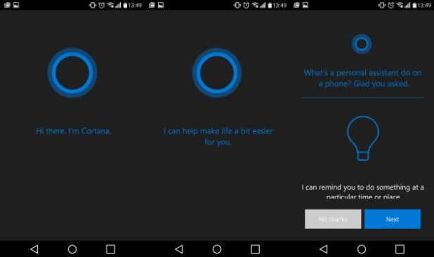 Android cortana leaked app