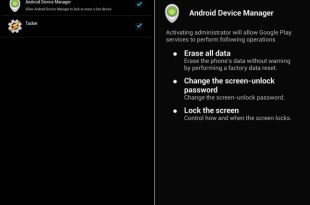 Unknown location android device manager