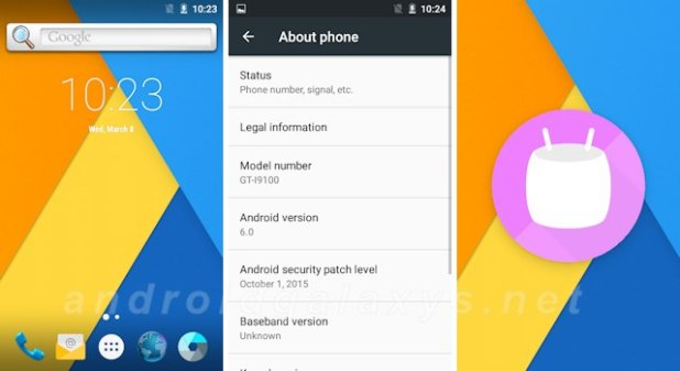 CyanogenMod 13 Android 6.0 Marshmallow Galaxy S2