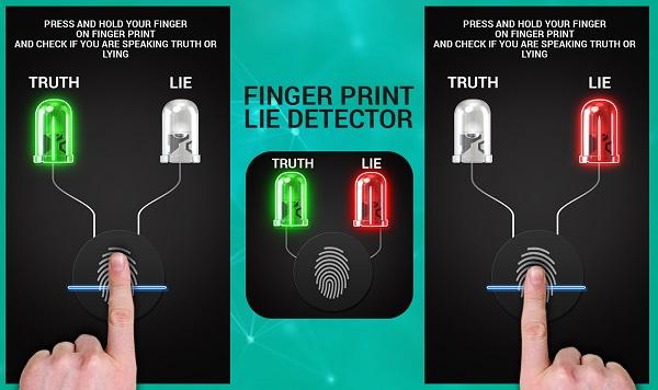 Finger lie detector Android app