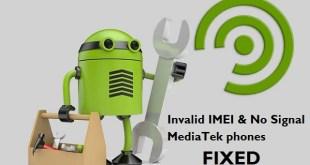 Invalid IMEI MediaTek phones