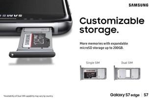 Galaxy S7 dual sim and micro sd