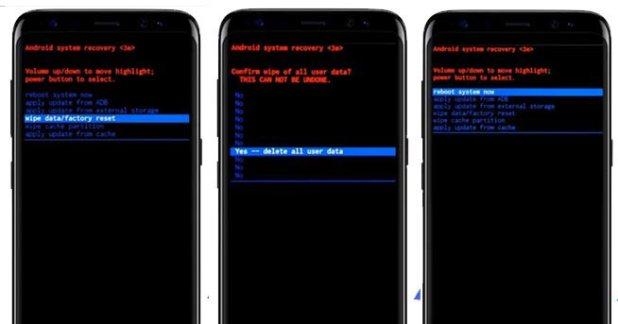 Galaxy S8 factory reset