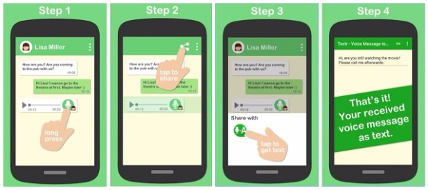 convert whatsapp audio message to text