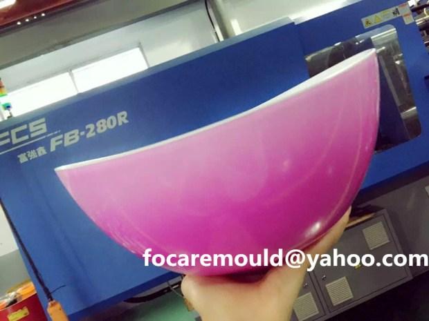 ensalada de cuenco de molde rotatorio