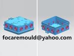 Caja de empalme de doble color