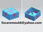 doble molde de caja de union