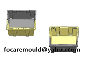 diseno de molde de dos colores para cajas de verduras