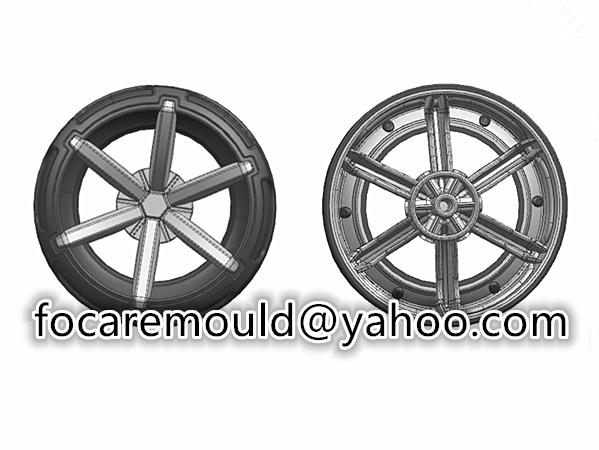 Molde de ruedas de dos colores