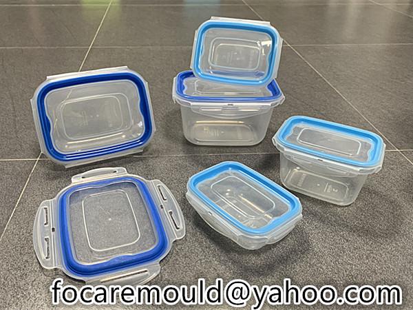 recipiente rectangular para alimentos sellado 2 colores