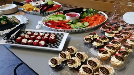 Here's all the food we enjoyed from our generous sponsor, PickNic's Catering.