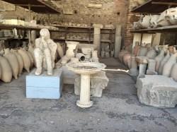 Almacén del yacimiento de Pompeya