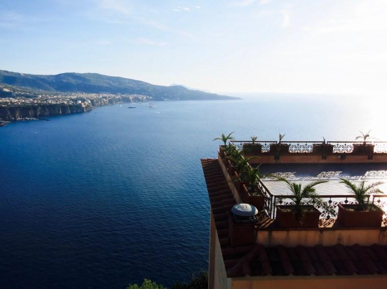 Vista de la costa Sorrentina