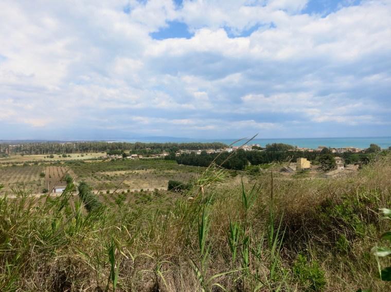 Paisaje entre Catania y Siracusa