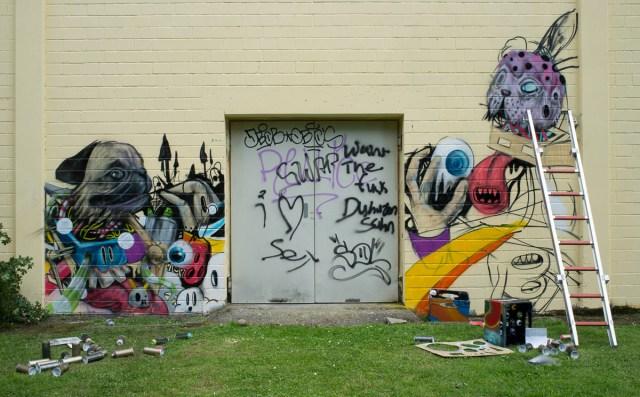 2013-06-29 X100 Graffiti Freiraumgallerie Maintal 001