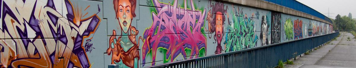 Orte für Graffiti im Rhein-Main-Gebiet
