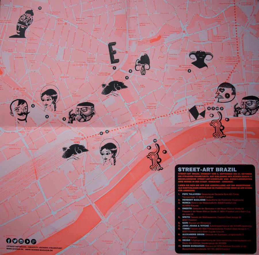 Map zur Ausstellung Street-Art Brazil