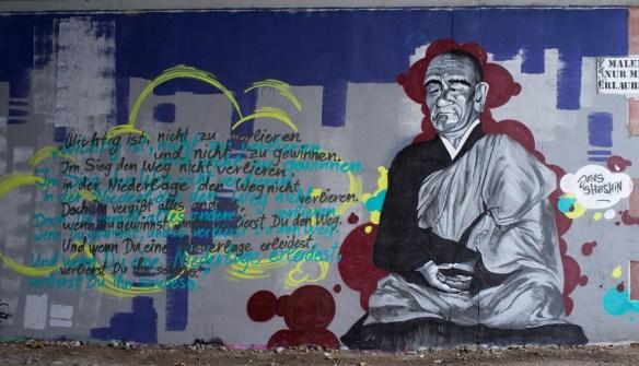 2013-01-26 X100 Graffiti Frankfurt Friedensbrücke 002