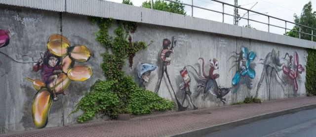 2012-06-11 X100 Herakut Bad Vilbel Bahndamm 070