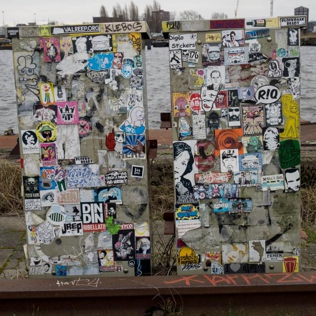 Amsterdam Aufkleber Streetart NDSM
