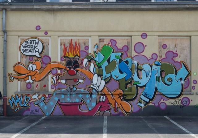 Graffiti Mainz Campus Uni