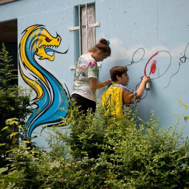 STZ Graffiti Garagenhaus JAM