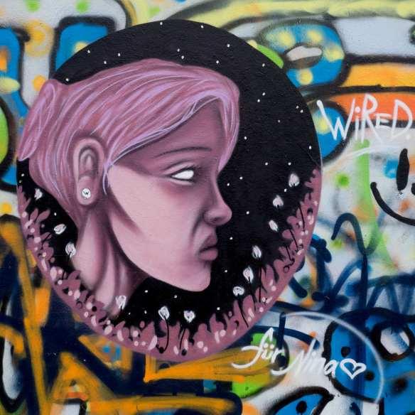 Graffiti Gelnhausen Wired to the moon