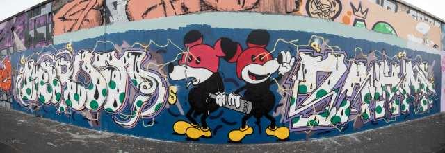Frankfurt Graffiti am Ratswegkreisel
