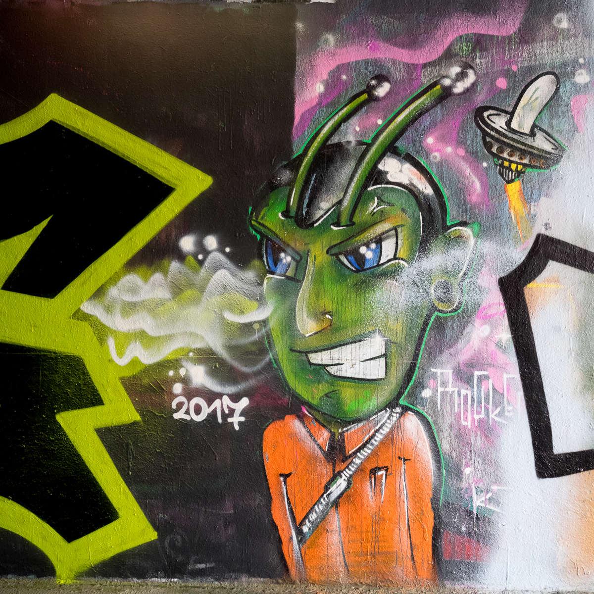 Frankfurt – Graffiti am Ratswegkreisel (79) – 03/2017